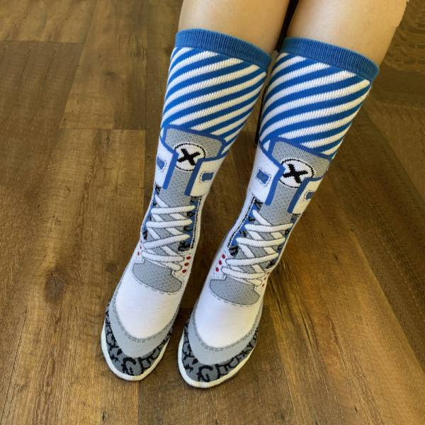 B&EGG - SHOOX 限量 喬丹3代造型 高筒襪 B&EGG, 台灣製造, MIT, 流行配件, 襪子, allstar, nike, VD, 交換禮物, 紅白拖, 聖誕節, 藍白拖