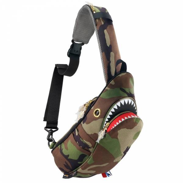 鯊魚單肩包 Morn Creations, 設計師, Steve, Morn, 包包, 潮流, 白色, 腰包, 造型, 隨身包, 鯊魚, 環保