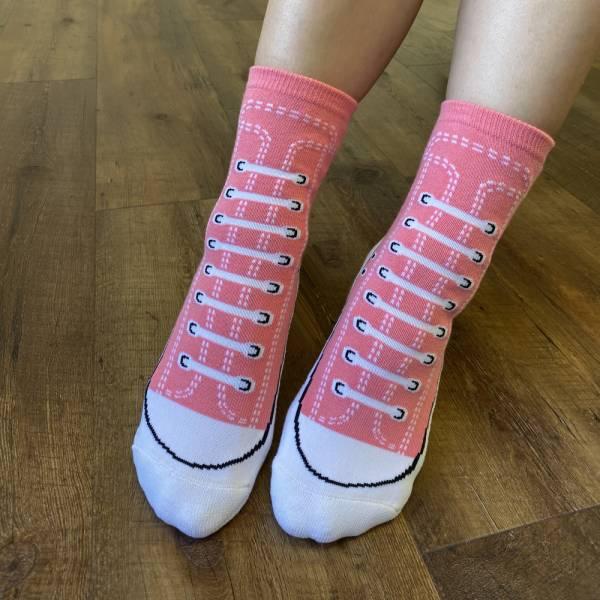 B&EGG - SHOOX鞋型襪 (帆布鞋款-PINK LADY) B&EGG, 台灣製造, MIT, 流行配件, 襪子, allstar, nike, VD, 交換禮物, 紅白拖, 聖誕節, 藍白拖