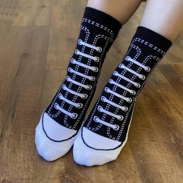 B&EGG - SHOOX鞋型襪 (帆布鞋款-BLACK JACK) B&EGG, 台灣製造, MIT, 流行配件, 襪子, allstar, nike, VD, 交換禮物, 紅白拖, 聖誕節, 藍白拖