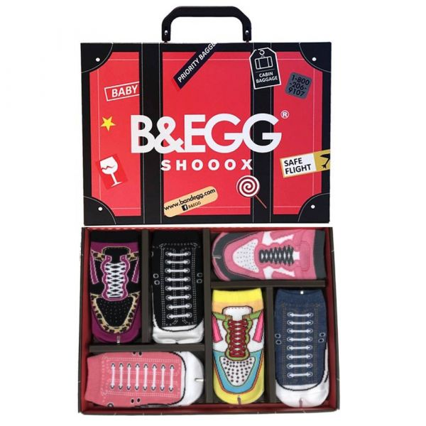 B&EGG - SHOOX鞋型襪 (童襪6入禮盒組-紅) B&EGG, 台灣製造, MIT, 流行配件, 襪子, allstar, nike, VD, 交換禮物, 紅白拖, 聖誕節, 藍白拖