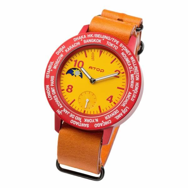 繽紛鋁合金錶款 世界時區機芯,日月盤,專屬個人風格,World Time專利,Red dot,設計優良產品獎,台灣精品獎,德國漢諾威iF工業設計獎
