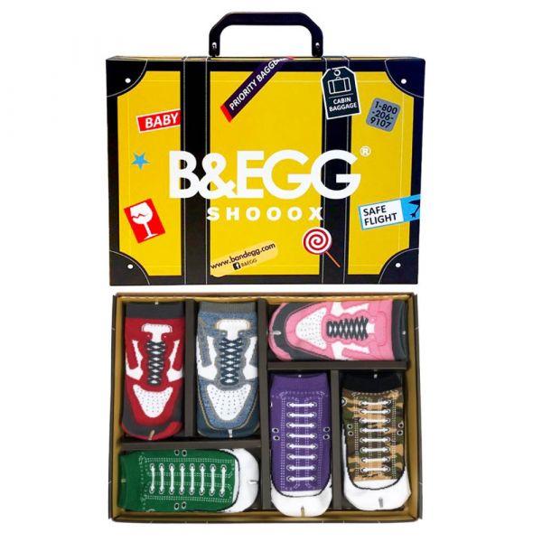 B&EGG - SHOOX鞋型襪 (童襪6入禮盒組-黃) B&EGG, 台灣製造, MIT, 流行配件, 襪子, allstar, nike, VD, 交換禮物, 紅白拖, 聖誕節, 藍白拖