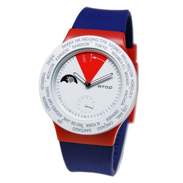 國旗錶-英國 世界時區機芯,日月盤,專屬個人風格,World Time專利,Red dot,設計優良產品獎,台灣精品獎,德國漢諾威iF工業設計獎