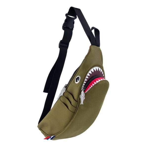 鯊魚腰包-預購 Morn Creations, 設計師, Steve, Morn, 包包, 潮流, 白色, 腰包, 造型, 隨身包, 鯊魚, 環保