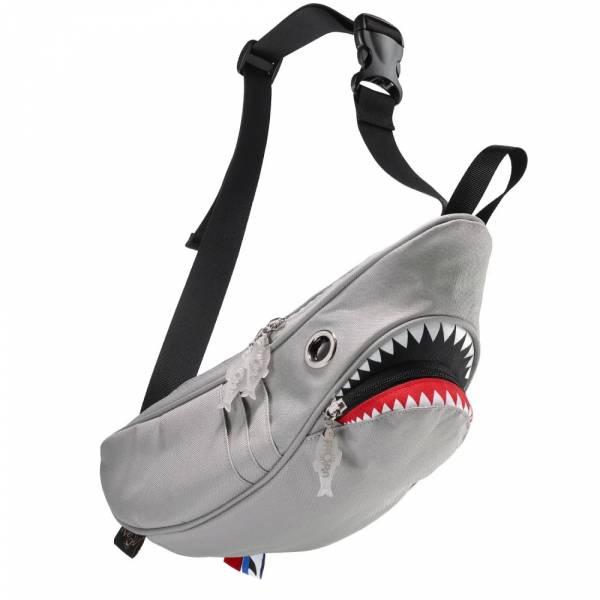 鯊魚腰包 Morn Creations, 設計師, Steve, Morn, 包包, 潮流, 白色, 腰包, 造型, 隨身包, 鯊魚, 環保