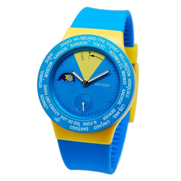 國旗錶-瑞典 世界時區機芯,日月盤,專屬個人風格,World Time專利,Red dot,設計優良產品獎,台灣精品獎,德國漢諾威iF工業設計獎