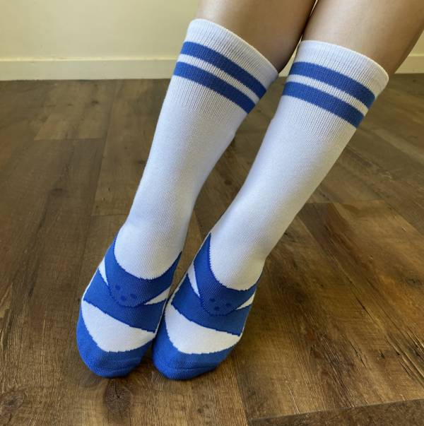 B&EGG - SHOOX鞋型襪 (經典藍白拖款-TW BLUE) B&EGG, 台灣製造, MIT, 流行配件, 襪子, allstar, nike, VD, 交換禮物, 紅白拖, 聖誕節, 藍白拖