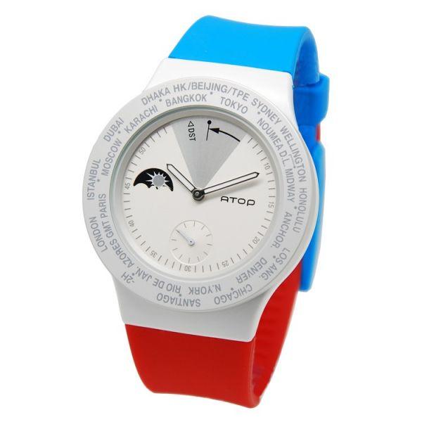 國旗錶-法國 世界時區機芯,日月盤,專屬個人風格,World Time專利,Red dot,設計優良產品獎,台灣精品獎,德國漢諾威iF工業設計獎