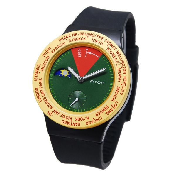 國旗錶-Rasta 世界時區機芯,日月盤,專屬個人風格,World Time專利,Red dot,設計優良產品獎,台灣精品獎,德國漢諾威iF工業設計獎