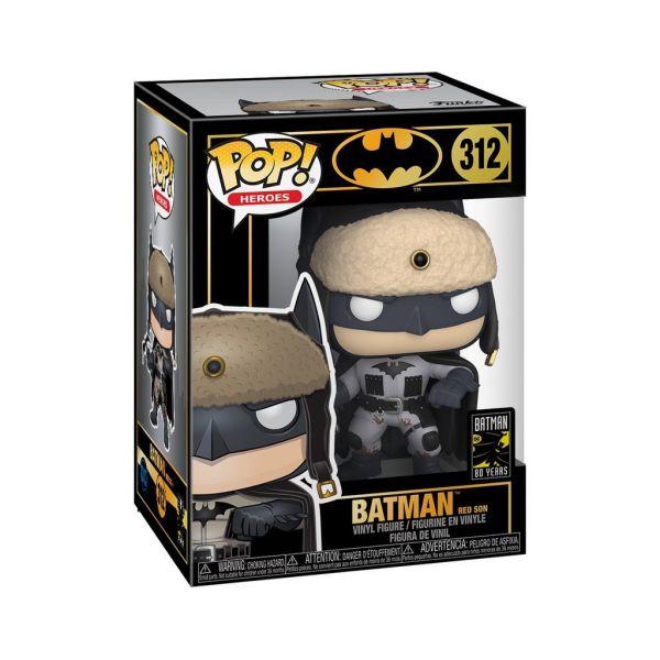 FUNKO POP 城鎮系列 蝙蝠俠 80週年 2003年 紅之子 蝙蝠俠