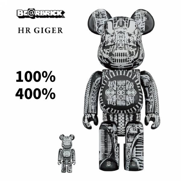 庫柏力克熊 BE@RBRICK 100%&400% H.R.GIGER BLACK CHROME Ver 黑