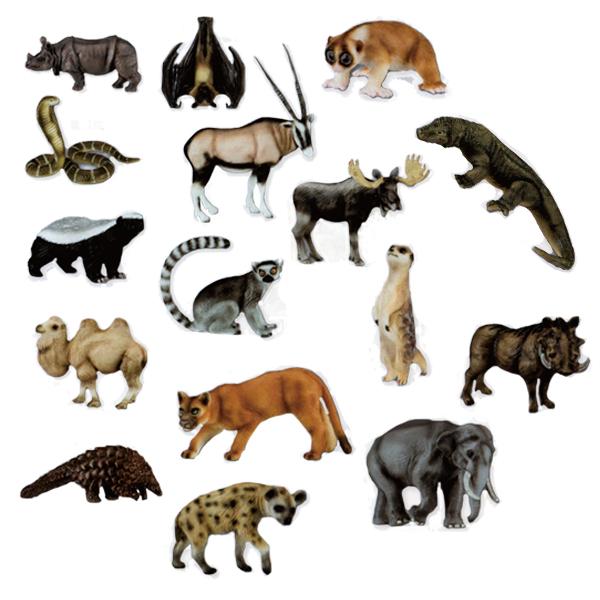EIKOH 微型動物星球 買即贈隨機場景一組 動物世界 EX11 全套 共16款