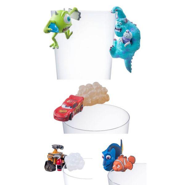 杯緣子 皮克斯系列 三眼怪 毛怪 閃電麥坤 瓦力 尼莫與多莉 共五款 一中盒 8入 PUTITTO