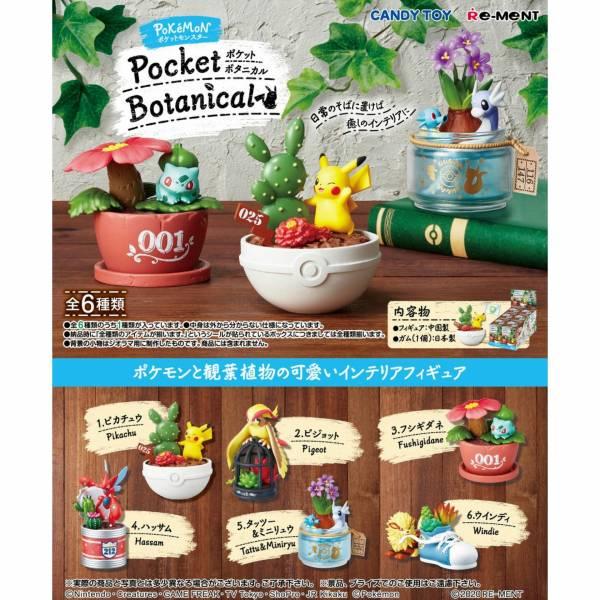 RE-MENT 寶可夢系列 盆栽植物食玩 一中盒 6入 精靈寶可夢,神奇寶貝,盆栽,微型景觀,綠色植物,造景盆栽