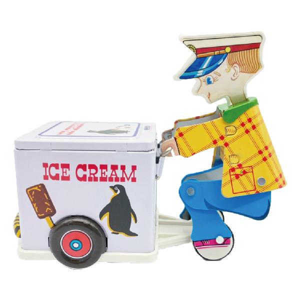 MASUDAYA 日製 鐵皮玩具 mini ice cream vender 迷你冰淇淋車