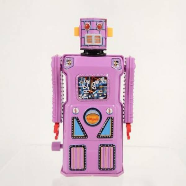 MASUDAYA 日製 鐵皮玩具 mini non stop lavender robot 迷你不停頓機器人 (薰衣草紫)