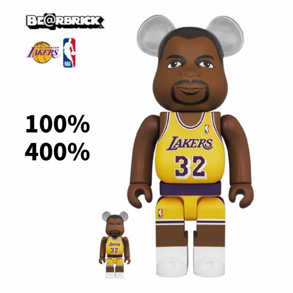庫柏力克熊 BE@RBRICK 100%&400% set Magic Johnson (Los Angeles Lakers)