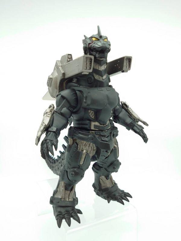 【中古品】BANDAI 軟膠 機械哥吉拉 三式機龍 重武裝型 2003 劇場限定 黑灰色
