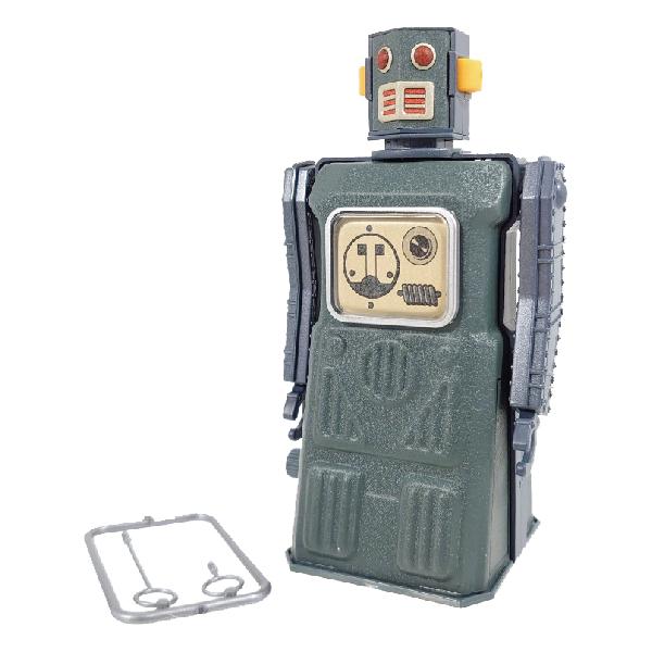 MASUDAYA 日製 鐵皮玩具 mini radicon robot 迷你無線電機器人 (灰)