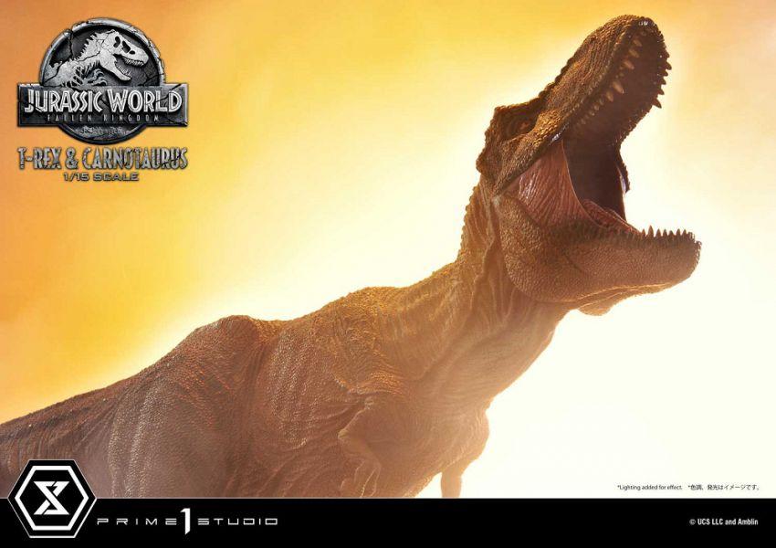 LMCJW2-07 侏羅紀世界:殞落國度 霸王龍 食肉牛龍 雕像 一般版