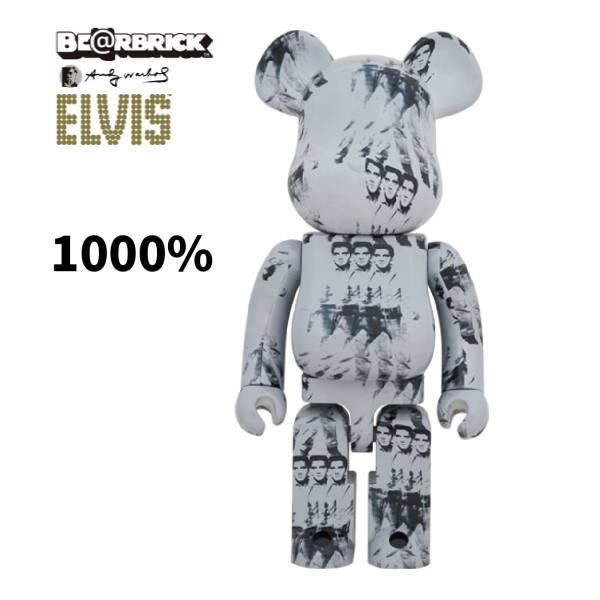 庫柏力克熊 BE@RBRICK 1000% Andy Warhols ELVIS PRESLEY 安迪·沃荷 搖滾之王 貓王
