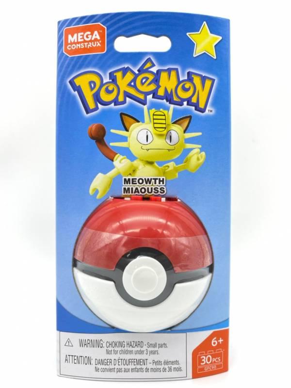 【特價品】Pokemon Mega Construx 美高創建精靈 寶可夢精靈球 喵喵