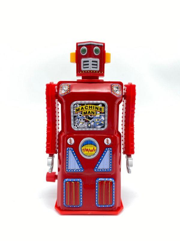 MASUDAYA 日製 鐵皮玩具 mini machine man 迷你機器人 (紅)