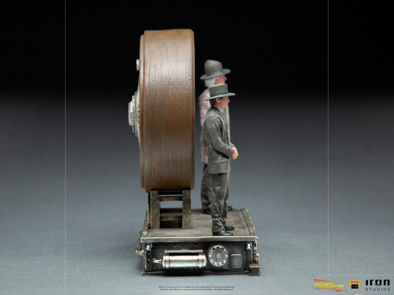 IRON STUDIOS 回到未來3 馬蒂和博士 大時鐘合影款 豪華版 雕像