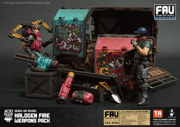 酸雨戰爭 FAV-AP04 縱情狂歡 霓虹武器包 Viva la Loca Halogen Fire Weapons Pack