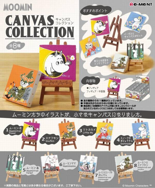 RE-MENT 嚕嚕米系列 慕敏圖卡收藏盒玩 一中盒 8入  MOOMIN,嚕嚕米.畫冊收藏,圖卡收藏,公仔擺飾