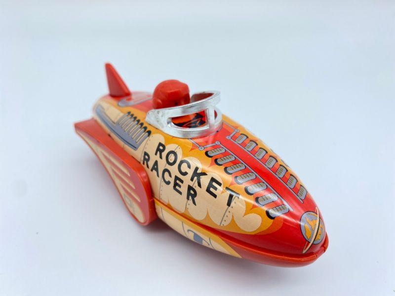 MASUDAYA 日製 鐵皮玩具 mini rocket racer 迷你火箭賽車