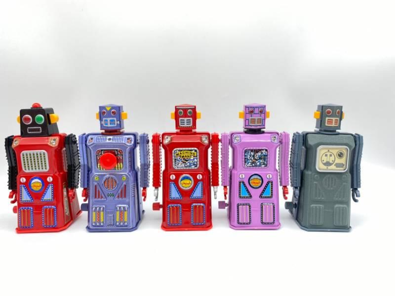MASUDAYA 日製 鐵皮玩具 THE GANG OF FIVE 迷你機器人五人組