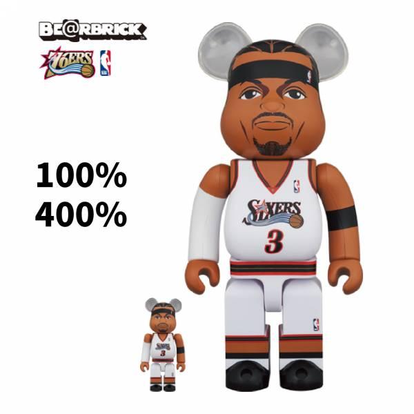 庫柏力克熊 BE@RBRICK 100%&400% set Allen Iverson(Philadelphia 76ers)