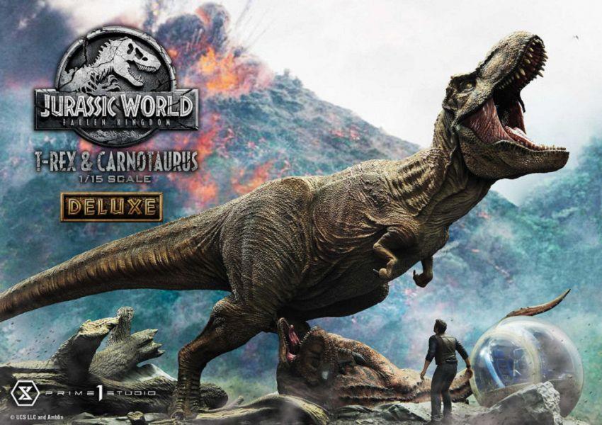 LMCJW2-07DX 侏羅紀世界:殞落國度 霸王龍 食肉牛龍 雕像 豪華版