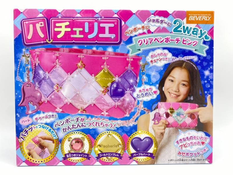 【特價品】日本進口 BEVERLY 時尚巧拼包 果動感透明筆袋(粉)