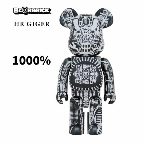 庫柏力克熊 BE@RBRICK 1000% H.R.GIGER BLACK CHROME Ver 黑