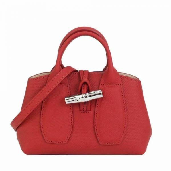 特價LONGCHAMP ROSEAU系列竹節卵石紋牛皮小手提包(售價已折) 日本代購,Longchamp