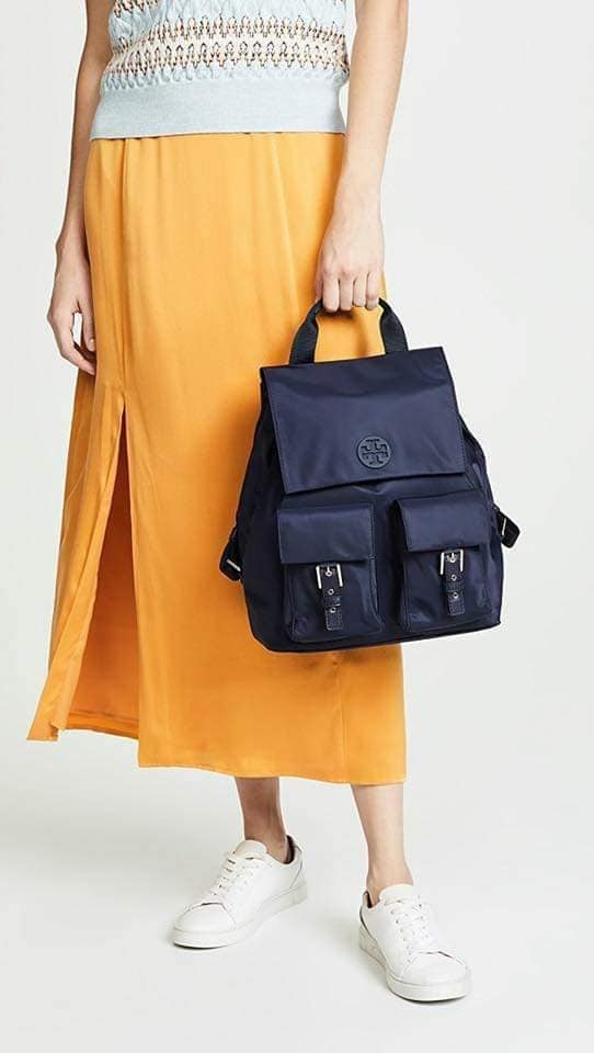 超值代購~Tory Burch 尼龍掀蓋雙口袋後背包(售價已折) 日本代購,Tory Burch,後背包