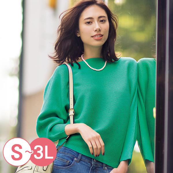 日本代購-cecile簡約一字領飛鼠袖針織上衣(共四色/S-LL) 日本代購,cecile,針織