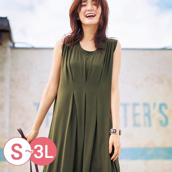 日本代購-portcros折縫設計cool fiber無袖洋裝S-LL(共四色) 日本代購,portcros,無袖