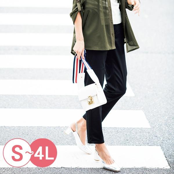 日本代購-cecile時尚光澤感彈性緞面長褲S-LL(共六色) 日本代購,CECILE,長褲