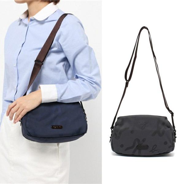 特價款-agnes b. 輕巧logo印花肩背包(小/共兩色) agnes b.,東區時尚,印花肩背包