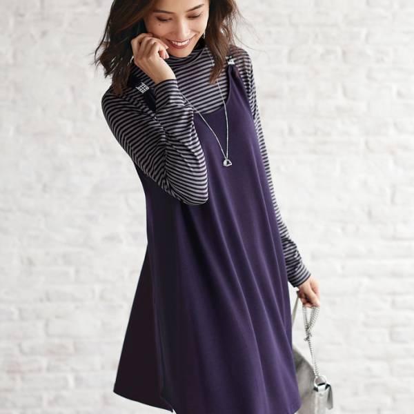 日本代購-特價portcros背心裙+高領衫二件組M-LL(售價已折) 日本代購,portcros,二件組