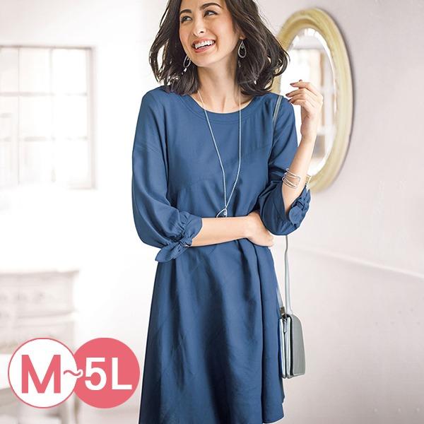 日本代購-portcros袖口綁結混麻長版上衣M-LL(共四色) 日本代購,portcros,長版