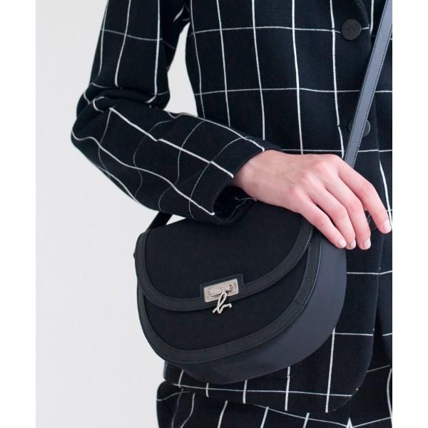 日本代購-agnes b. Voyage壓紋皮革飾邊白金LOGO肩背包 (售價已折) agnes b.,東區時尚,肩背包