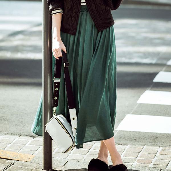 日本代購-portcros輕盈的喇叭裙(共五色/S-LL)(售價已折) 日本代購,portcros,裙