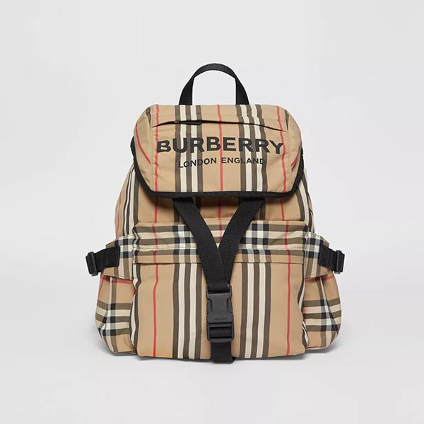 日本代購-Burberry 印花logo格紋尼龍後背包 agnes b.,日本代購,後背包