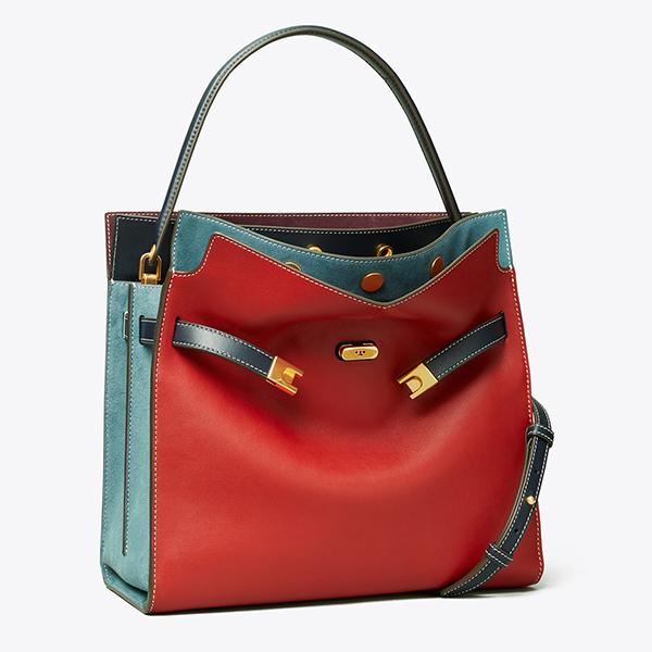 日本代購-Tory Burch限量LEE RADZIWILL拼色肩背手提包-蘋果紅 agnes b.,東區時尚,TB包