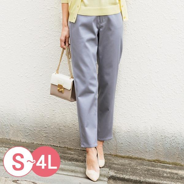 日本代購-cecile時尚光澤感彈性緞面長褲3L-4L(共六色) 日本代購,CECILE,長褲